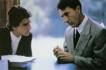The Oscar-winning film Rain Man (1988) tells the story of the relationship between two brothers, one of whom is autistic. Charlie (Tom Cruise, left), a selfish car salesman, sets out to find who his father left his fortune to after his father dies. His search leads him to discover that he has a long-lost older brother, Raymond (Dustin Hoffman), who is autistic and has been living in a mental institution. Photofest